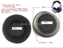 Replaceable Ear Cushions for Technics RP-DH1200,HDJ-1000 and HDJ-2000. MDR-V700
