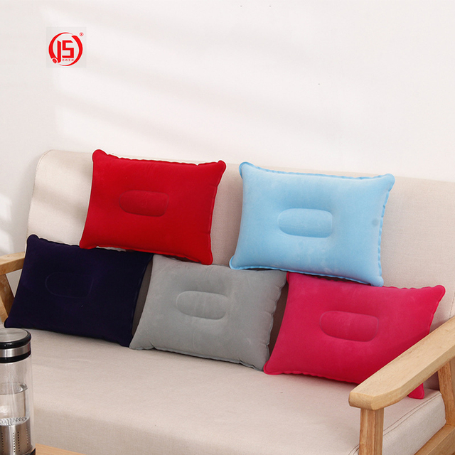 US $9 98 |JS Wave Air Pillows Inflatable Portable Travel Neck Cushion Camp  Beach Car Plane Head Rest Bed Sleep Light Weight Easy To Carry-in Travel