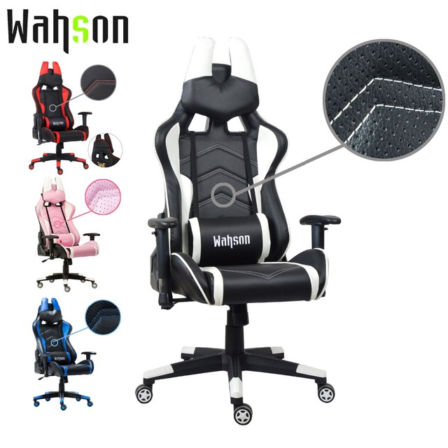 b995cc113 Wahson Adjustable Office Chair Ergonomic High-Back Faux Leather Racing  Style Reclining Computer Gaming