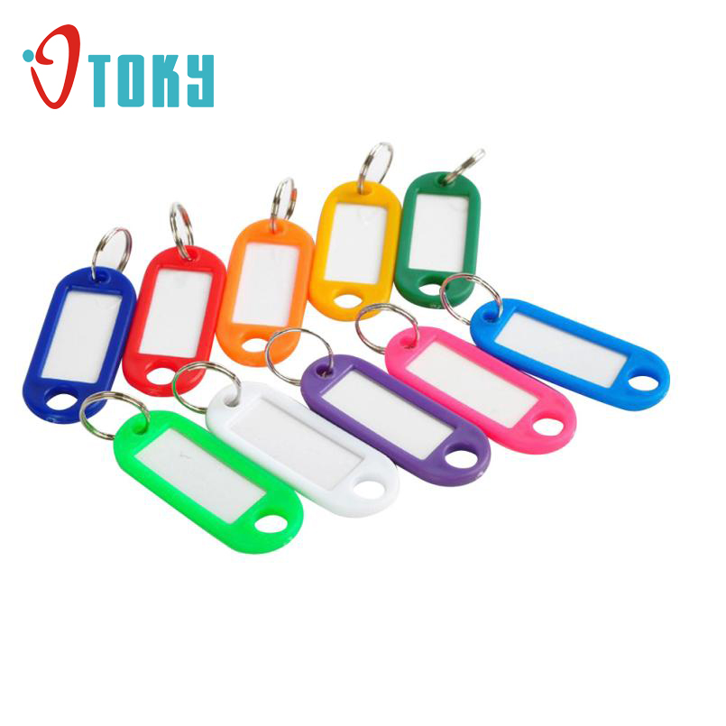 Key Chains OTOKY Gussy Life Wholesale Hot! 100 Pieces Plastic Key Tags Assorted Key Rings ID Tags Name Card Label Hot Sale Jan25
