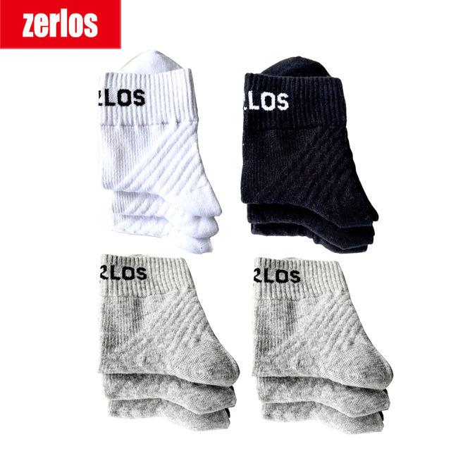 3 pairs /lot size 40-43 zerlos brand high quality socks men cotton crew socks black white gray compression happy mens socks