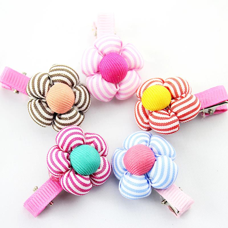 YWHUANSEN 20pcs/lot Cute flower girls hair accessories Nice hairclips for Lovely small Hairgrips Kids hair wear SPIN222 girls headbands newly design cute kids flower head wear hair may11 drop shipping sunward