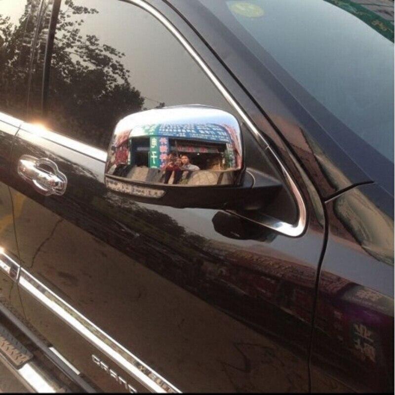 ABS Chrome для Jeep Grand Cherokee 2011 2012 2013 2014 заднего боковой двери зеркало заднего вида отделки покрытие автомобиля для укладки