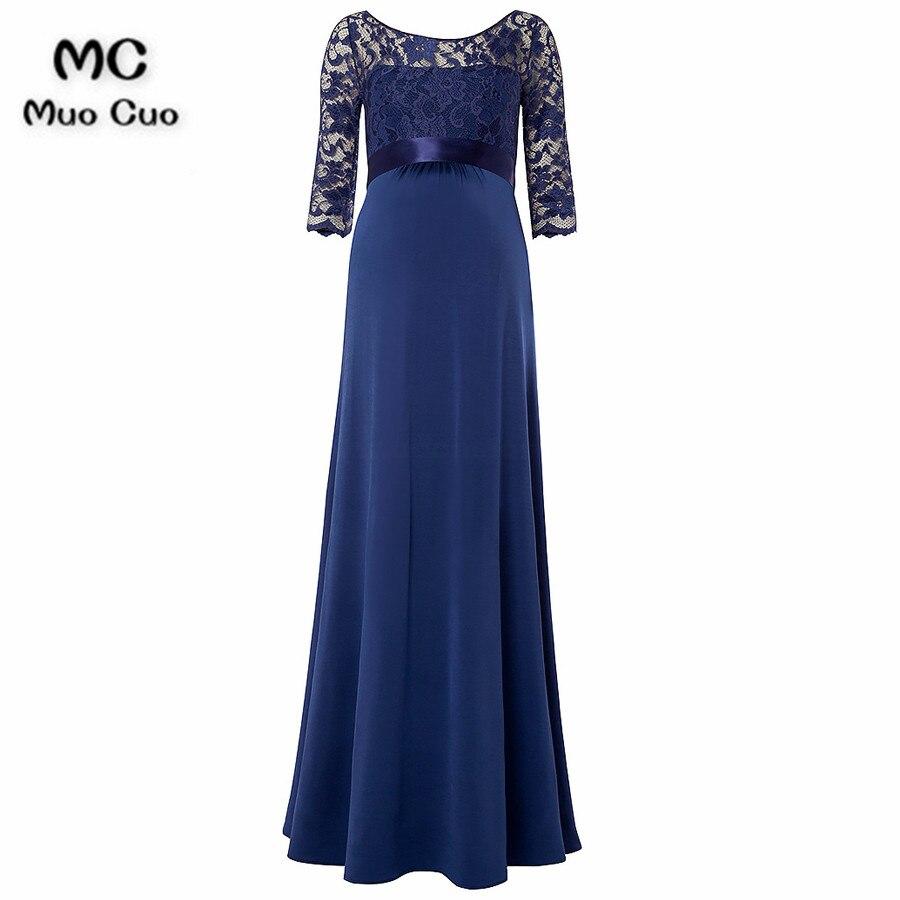 2018 Elegant Navy Blue Mother Of The Bride Dresses With 3/4 Sleeves Chiffon Mother Of The Bride Dresses For Weddings