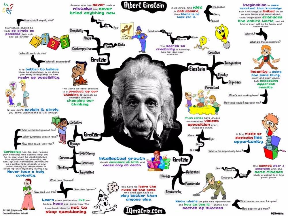 Einstein physicist Scientist School Physical Chemistry Laboratory Decorative Wall Sticker Poster 32 x 24 17x 13 - 18