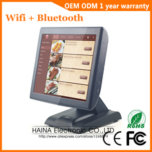Haina Touch sistema POS de pantalla táctil de 15 pulgadas con pantalla de cliente, máquina de caja registradora electrónica para venta de supermercado