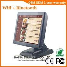 Haina touch 15 polegada tela de toque sistema pos com display cliente máquina caixa registadora eletrônica para supermercado venda
