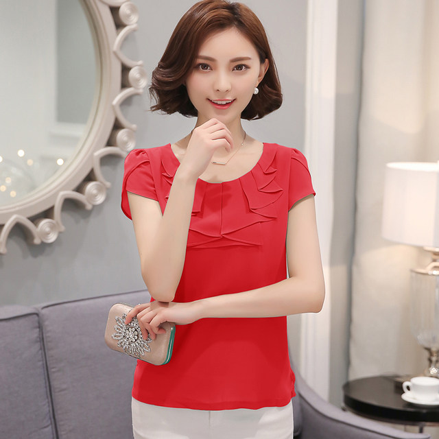 Online Shop EveingAsky Office Women Shirts Blouses White Pink ...