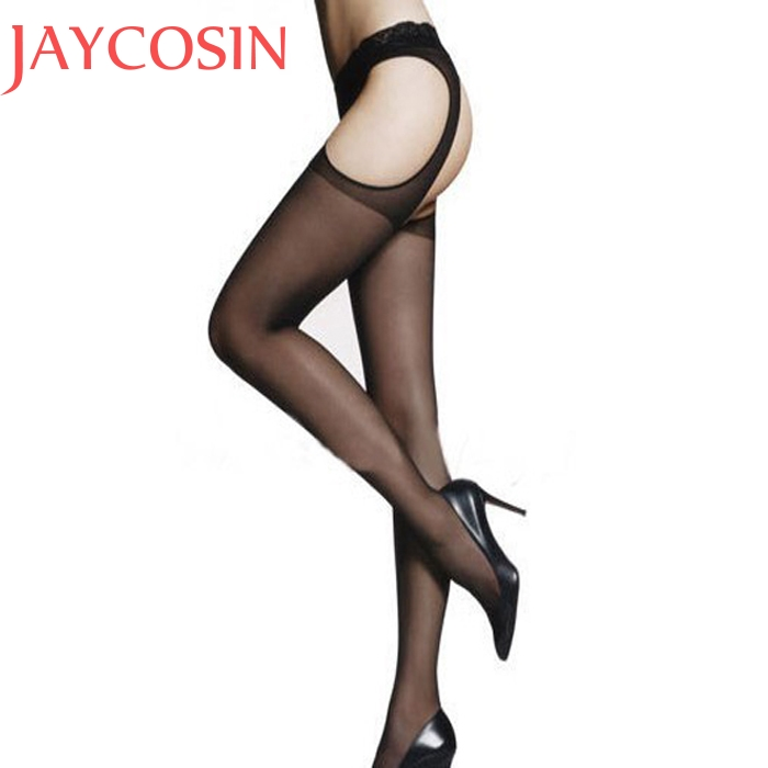 9e92b9ed0 Women Sexy Lingerie Transparent Open Crotch Tight Lady Erotic Jacquard  Pierced Nonslip Convenient Stockings Racy Pantyhose Jan18