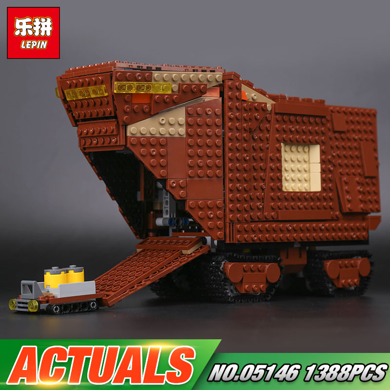 Lepin 05146 Star Toys Wars Compatible The 75220 Sandcrawler Set Building Blocks Bricks Kids Toys Christmas Birthday Gifts Models lepin 05146 starwars the sandcrawler model set star plan wars 75220 building blocks bricks educational children collection toys