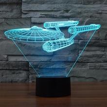2016 Новый 7 цвет изменение зрительных иллюзий СВЕТОДИОДНАЯ лампа Дарт Вейдер игрушки 3D стереоскопический преобразования Радуга СВЕТОДИОДНЫЕ фонари