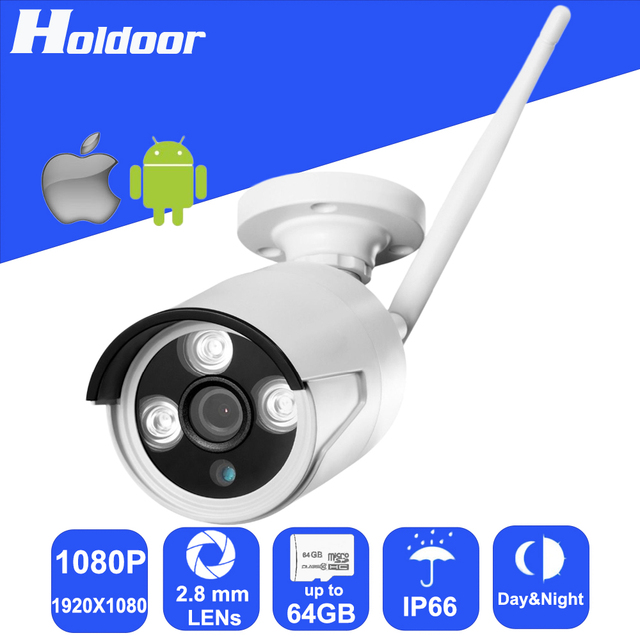 Wireless IPC 1080P 2.8mm Lens Waterproof Security P2P Outdoor Camera Motion Detection Alarm Video Record Email Alert Onvif CCTV
