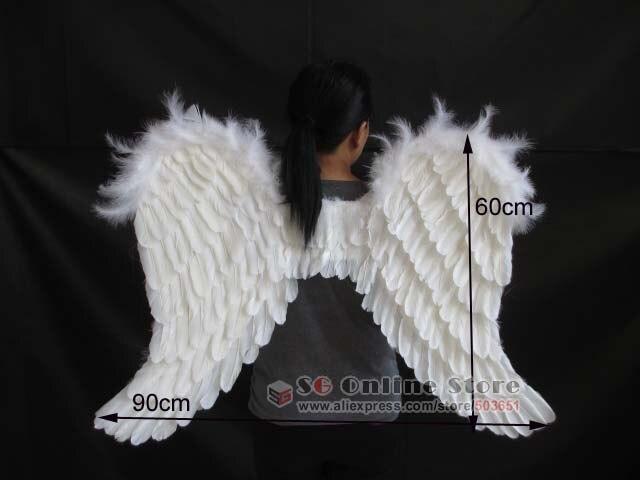 EMS envío gratis bridesmaids hermoso adorno decoración accesorio alas de Ángel Blanco accesorios de boda puro hecho a mano - 5