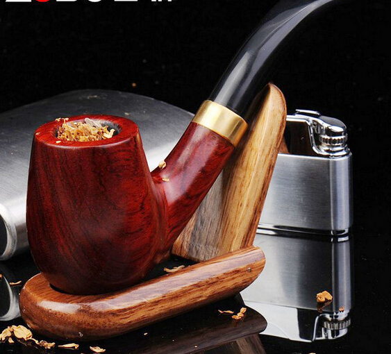 Us 2049 28 Off2018 Hot Sale High Quality Smoking Pipe Wood Tobacco Pipe Imported Handmade Red Sandalwood Bucket Bend 22mm Filter Pipe Lh0137 In