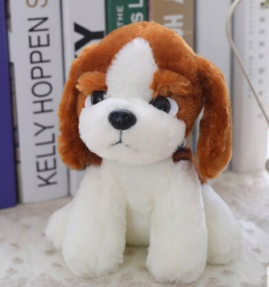 About 18cm Cute Basset Hound Dog Plush Toy Soft Doll Kid S Toy