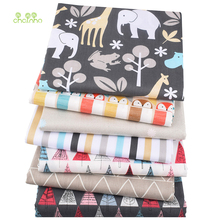 Chainho,New Cartoon Series,7pcs/lot,Printed Twill Cotton Fabric,Patchwork Cloth,DIY Sewing Quilting Material For Baby&Children