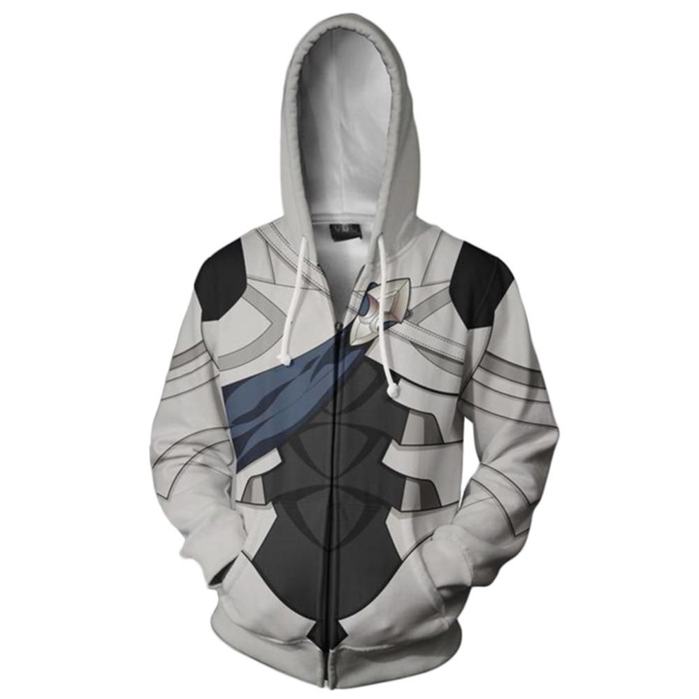 Fire Emblem Cosplay Hoodie Printed Jacket Zip Up Cosplay Costume Autumn Zipper Hooded Sweatshirt