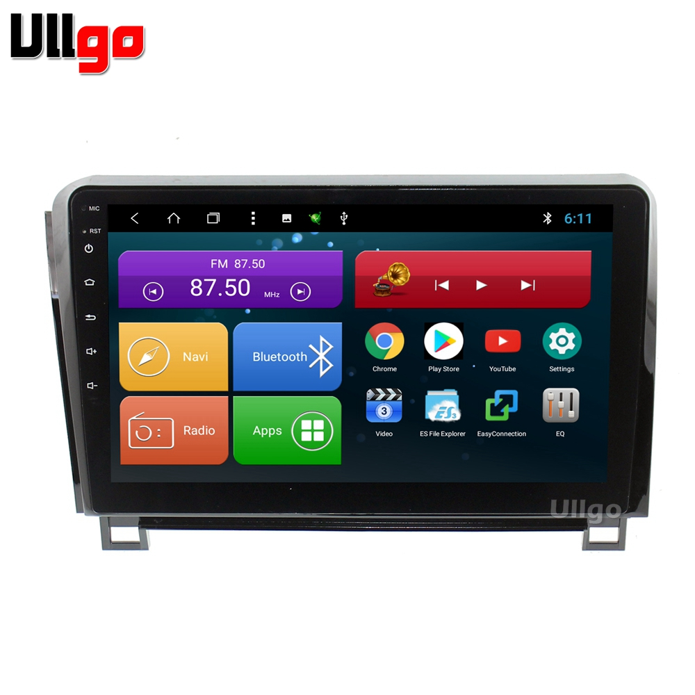 10.1 inch Android 8.1 Car Head Unit for Toyota Tundra Sequoia Car Stereo GPS Autoradio GPS with BT Radio RDS Mirror-link Wifi