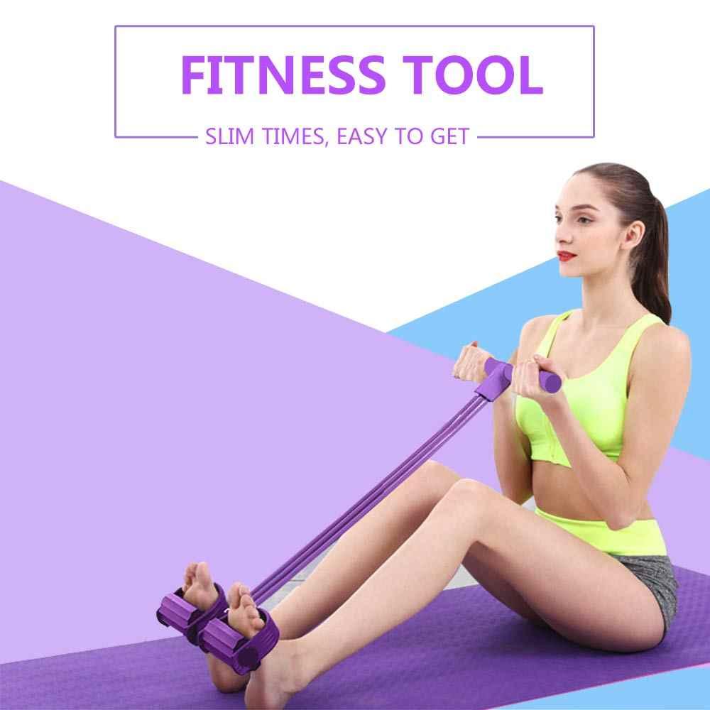 4 rura odporność zespoły lateksowe pedał ćwiczenia sit-up ciągnąć liny Expander Opaski elastyczne sprzęt do jogi Fitness gumy treningu