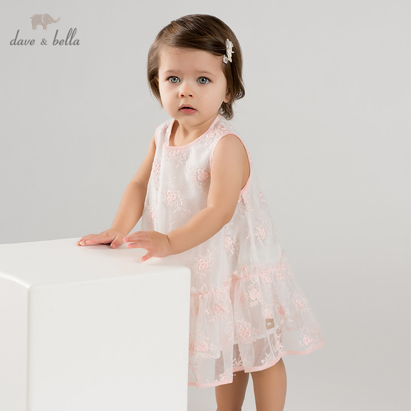 a350d2f2a6424 DB10130 dave bella summer baby girl's princess cute floral dress children  party dress kids infant flower lolita clothes