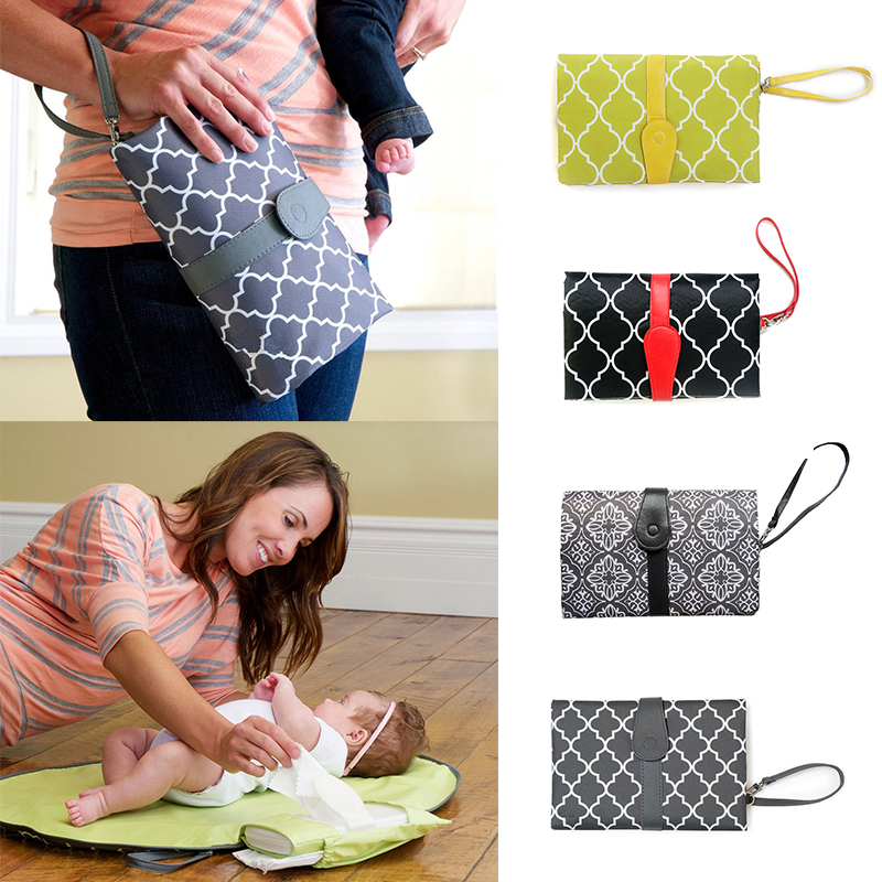 Multifunctional Baby Diaper Bags Mummy Tote Bag Portable Foldable Infant Nursing Bag non-woven fabrics