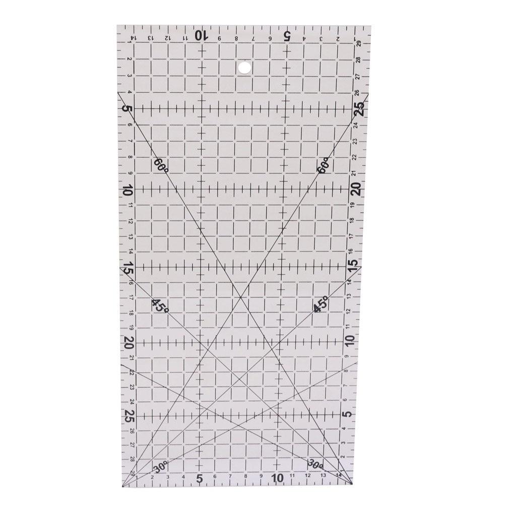 1 pcs Diy régua de mão 30 * 15 cm acrílico material Patchwork - Escola e equipamento educacional