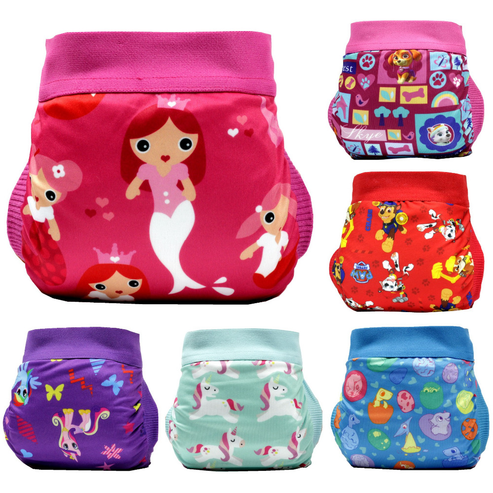 FREE SHIPPING 2018 Paw Unicorn Gladbaby Diaper Costume Mermaild Cloth Diaper Nappies Adjustable Washable