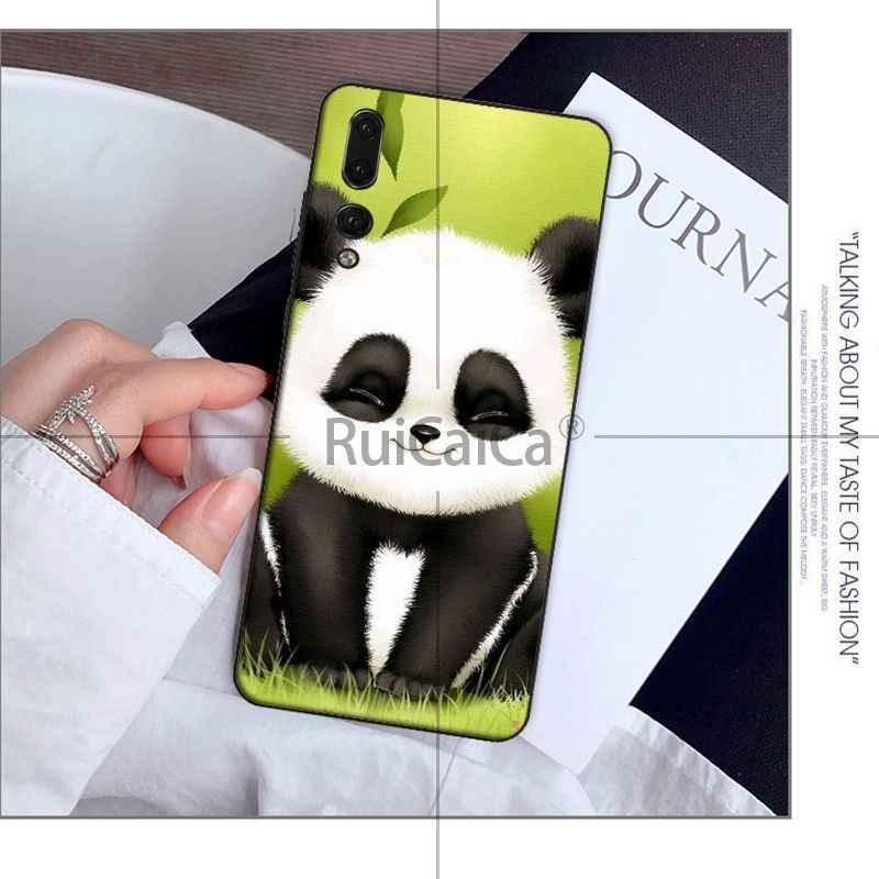 Ruicaica miłość śmieszne panda DIY rysunek telefon skrzynki pokrywa Shell dla Huawei Mate10 Lite P20 Pro P10 Plus Honor 9 10 pokrowiec do telefonu