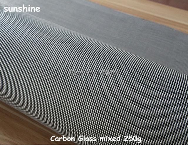 0 2mm Thickness Carbon Fiber Glass Material Hybrid Black White 250g