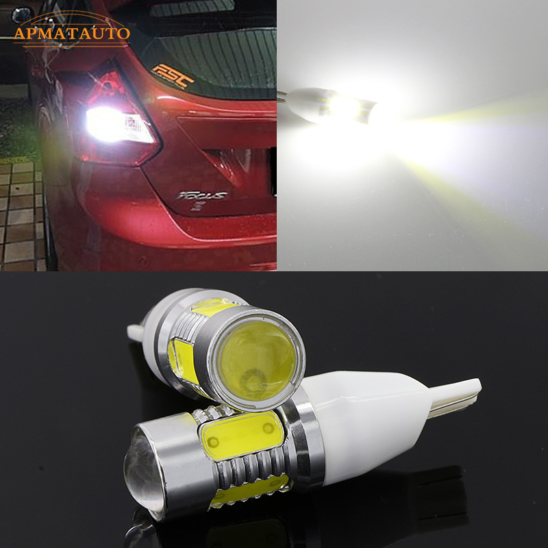 2 x 6000 White T15 W16W 912 921 Plasma LED Projector Blub Tail Backup Reverse Rear Lights For Ford Focus Mondeo Kuga