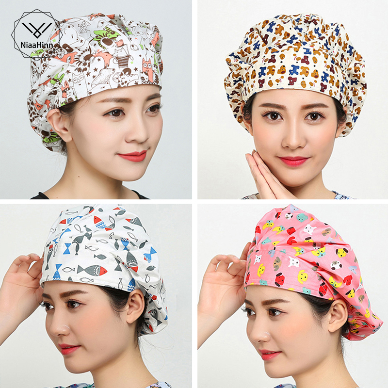 Nurse Medical Surgical Caps Dentists Medical Scrub Cap Beauty Salon Laboratory Pharmacy Medical Caps Surgical Hats Cotton Soft
