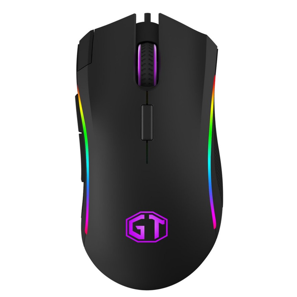 Delux M625 Gaming Mouse USB Wired Optical Mouse RGB Backlit 5000 DPI for Gamer Gaming Office i rocks im3 we usb 2 0 wired 3500dpi optical gaming mouse w backlight white