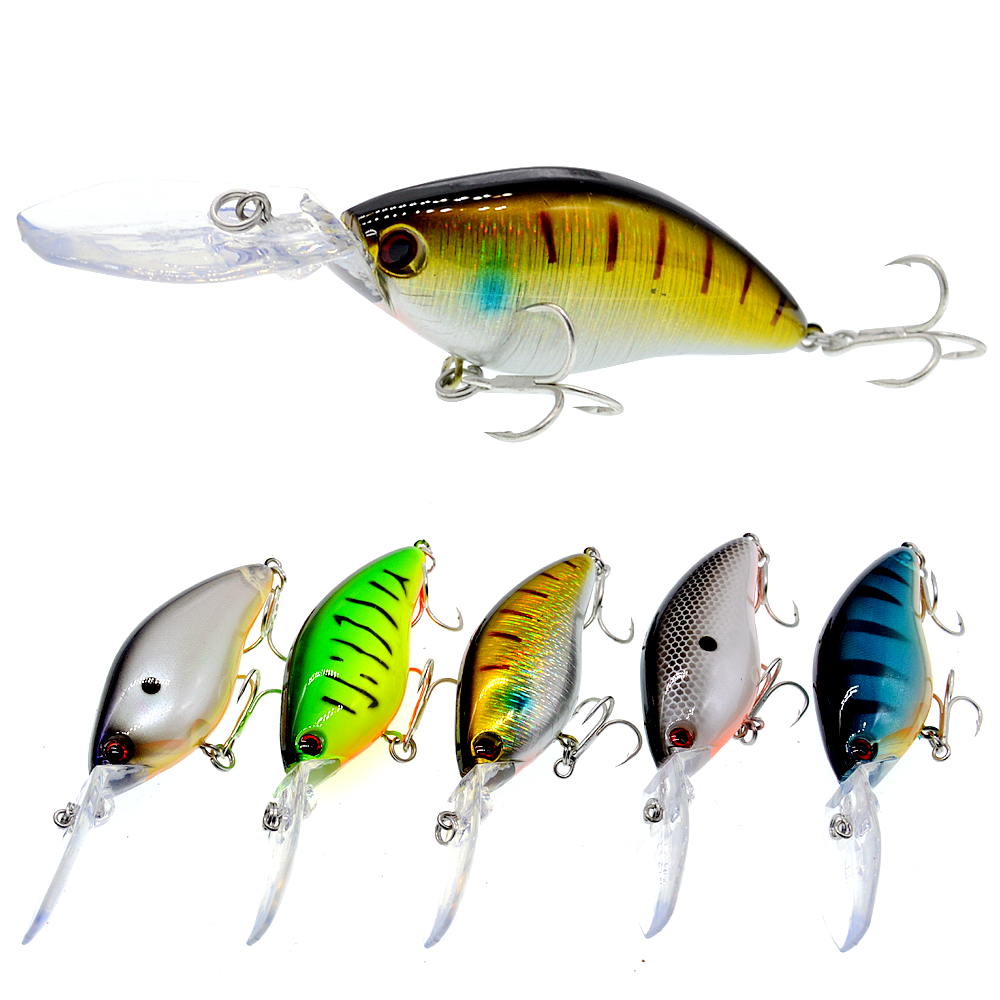 110mm 18g Deep Diving Pesca Fishing Lure Hard Crankbait Minnow Wobbler for Bass