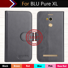 Hot!! BLU Pure XL Case Factory Price 6 Colors Luxury Dedicated Flip Leather Exclusive Cover For Phone +Tracking