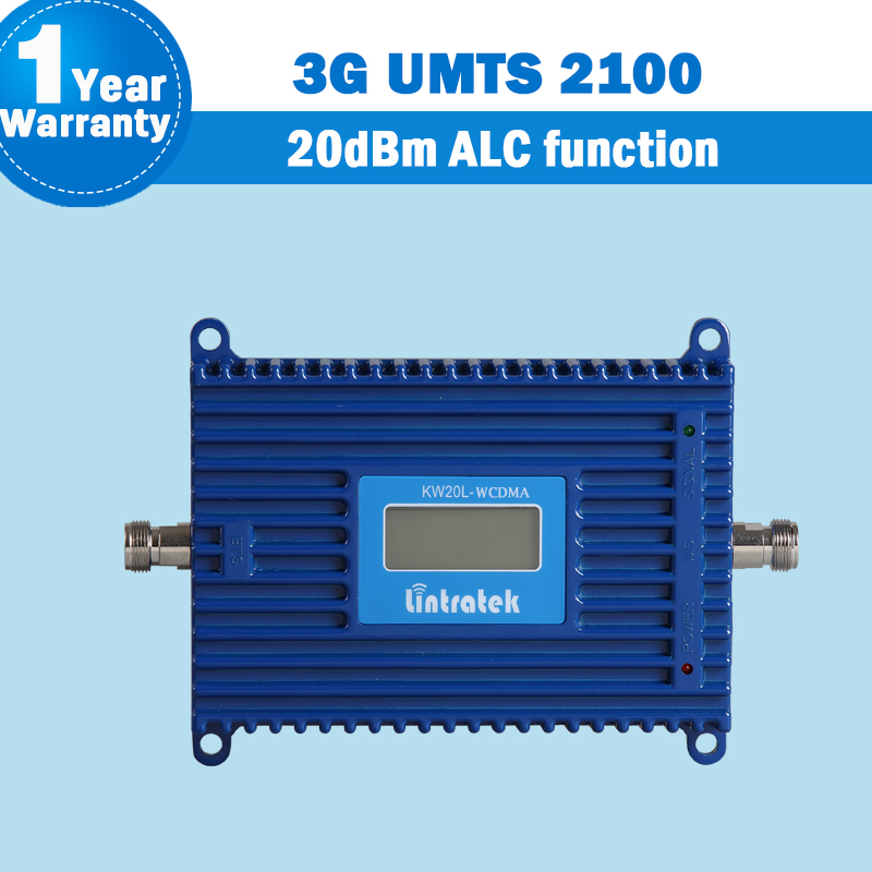 Lintratek 3G 2100MHz High Quality WCDMA (Band 1 ) ALC Function Signal Repeater Mobile Phone Booster 2100mhz UMTS Amplifier S39