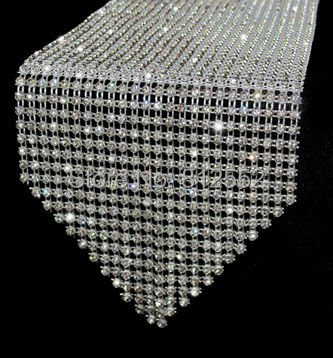 Free shipping sparkle home table decoration crystal table for Bling decor