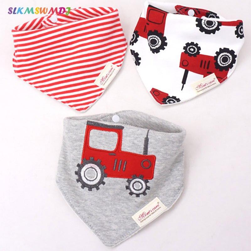 WHTLY 3 stks / partij Baby slabbetjes burp speeksel handdoek cartoon - Babykleding - Foto 1