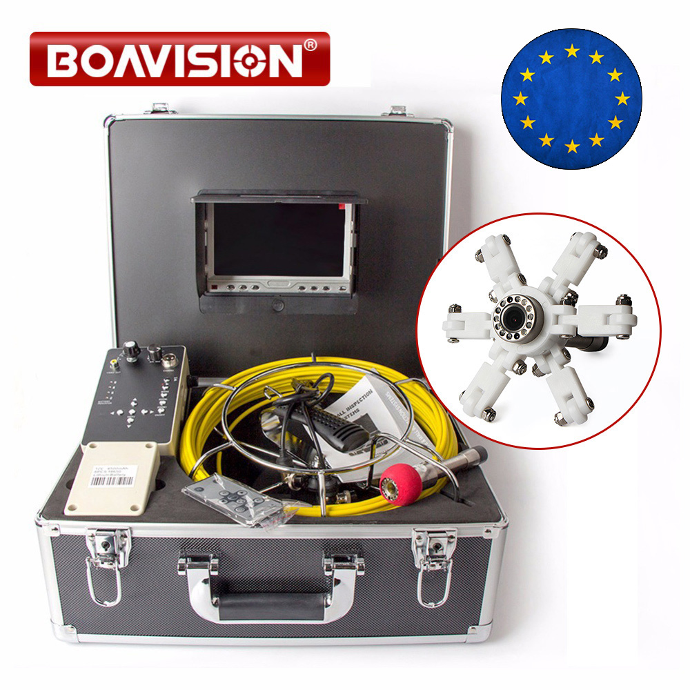 Drain Pipe Inspection Camera System Equipment With DVR Function 7 LCD Monitor 20m Cable 1000TVL Camera Night Vision