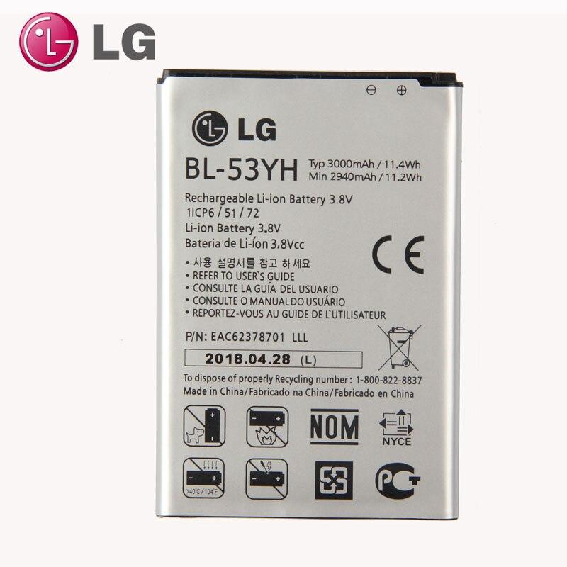 Original LG G3 Battery for LG Optimus G3 D830 D855 LS990 VS985 F400 LG G3 D850 D851 3000mAh BL-53YH