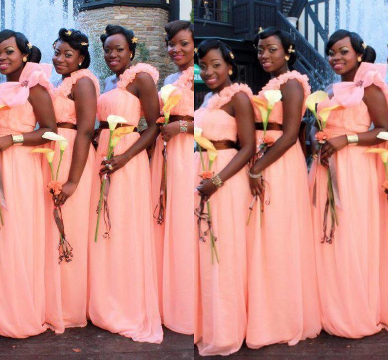 Diseño de la tapa de Color Coral dama de honor vestidos largos 2015 ...