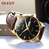 OLEVS Quartz Watch Men Top Brand Luxury Famous 2017 Wristwatch Male Clock Wrist Watch Business Quartz
