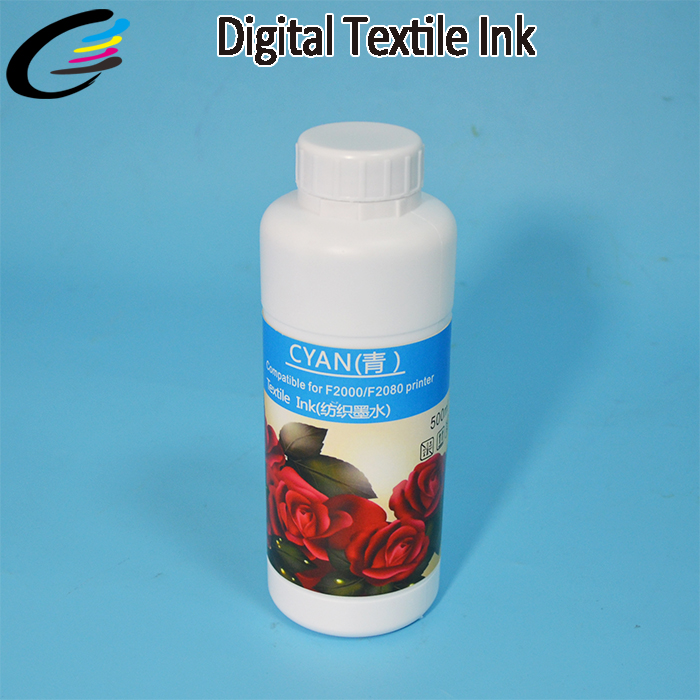 DTG Water Based Digital Textile Pigment Ink for Printing on Cotton T-Shirt hot sale 1000ml roland mimaki mutoh textile pigment ink in bottle color lc for sale