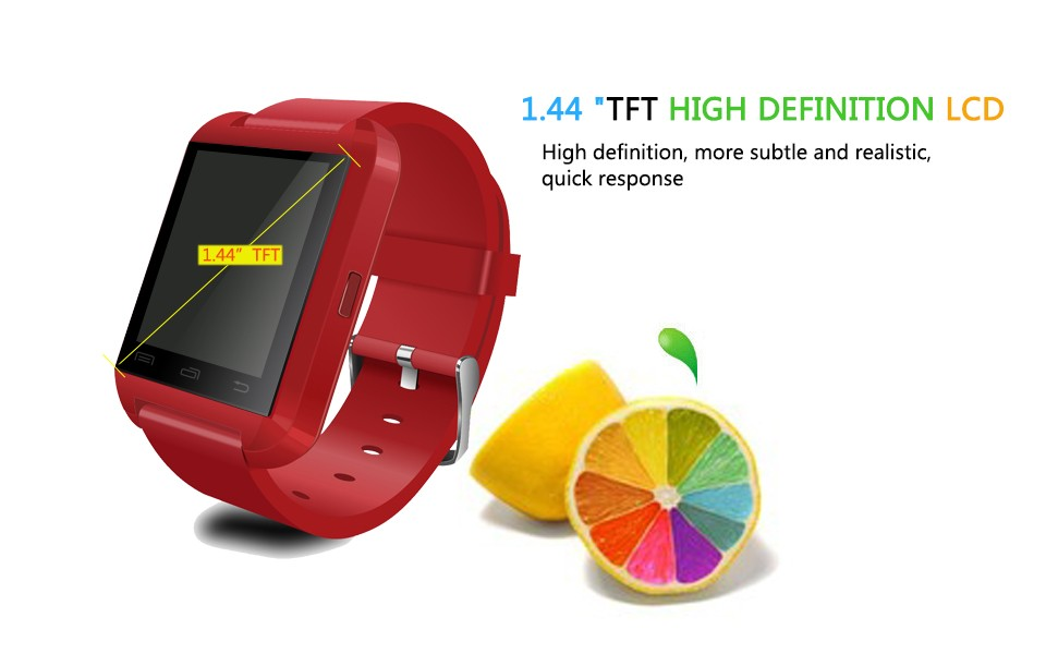 Smart Watches U8 Sport  Pedometer Handsfree Bluetooth Smartwatch Wristband for Android Phone black one size 1