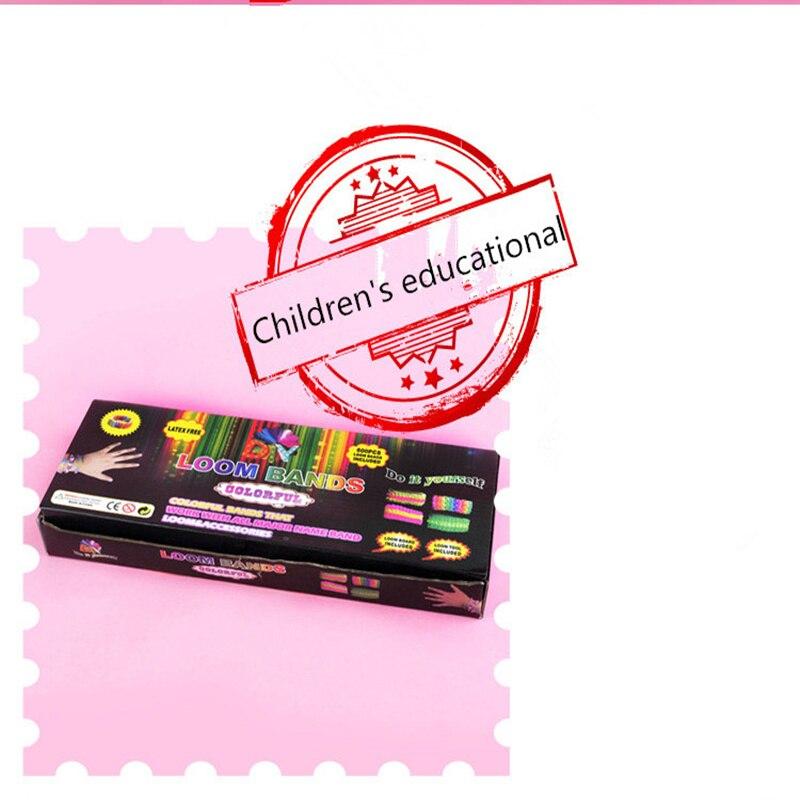 Rainbow rubber band Children's educational toys bracelet weaving machines