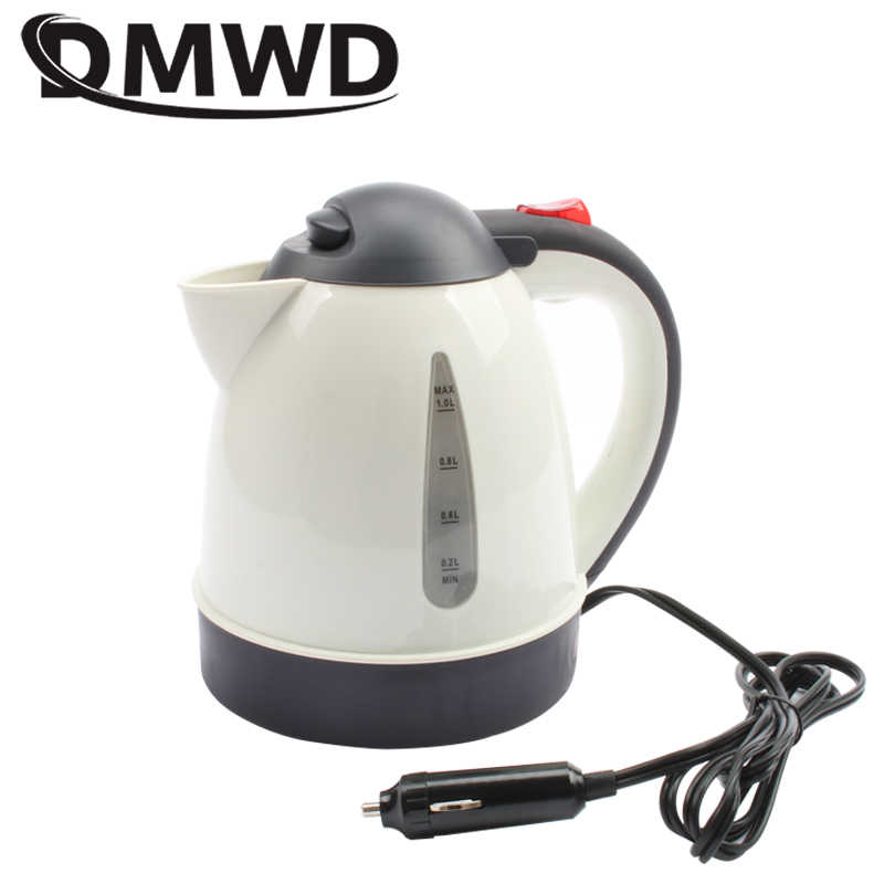 DMWD 1000ml Auto Car Electric Kettle Portable Hot Water Heater Travel 12V 24V Cigarette Lighter Tea Coffee Heating Pot Mug Cup