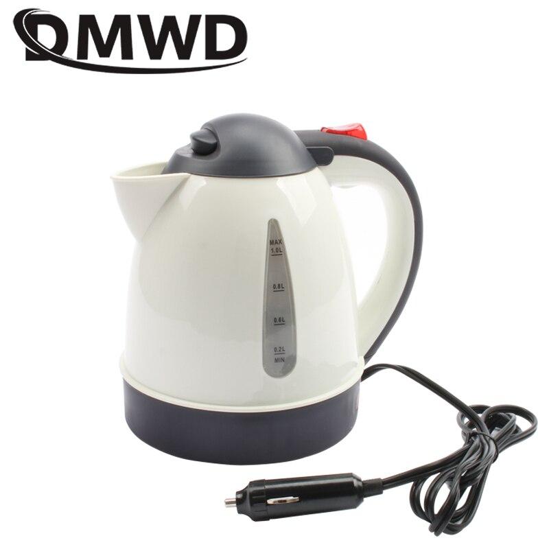 Dmwd chaleira elétrica portátil, 1000ml, aquecedor elétrico, para carro, viagem, 12v, 24v, para chá e café copo de aquecimento da caneca