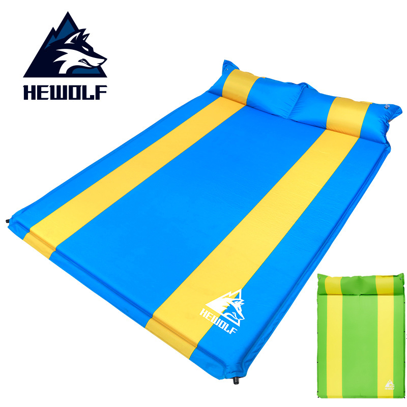 Hewolf 3cm thick widen automatic inflatable cushion moisture proof mattress outdoor camping tent mat nap mats