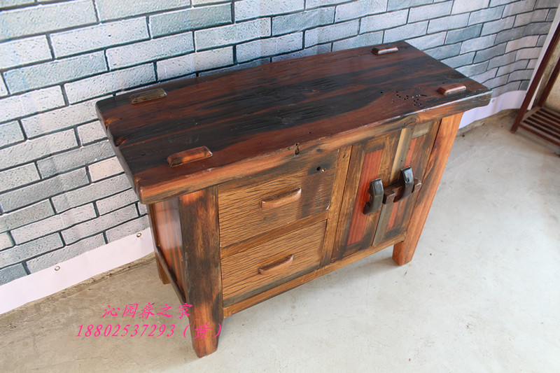 Qinyuanchun old ship solid wood furniture Pantry Cabinets Bedside