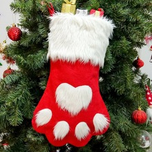 Christmas Stockings Pendant Cloth Ornaments Small Boots Print Party Home Decoration Supplies Gift Bag