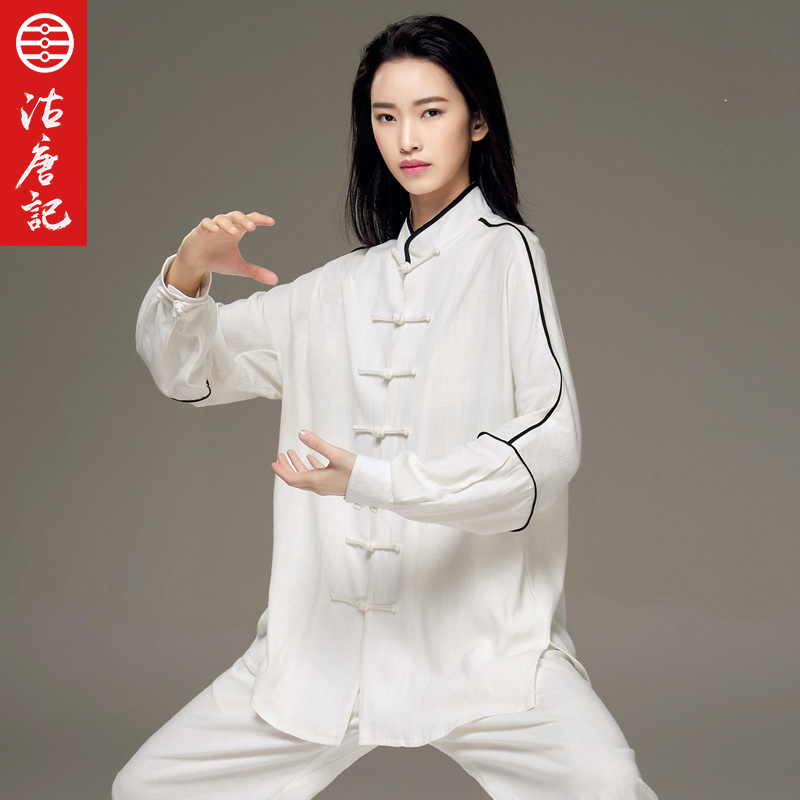 Здесь продается  Tai Chi Uniform Customs Wash Cotton Tai Clothes Men And Women With Fund Spring And Autumn Taiji Boxing Practice Clothes  Спорт и развлечения